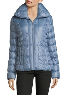 Kenneth Cole New York Packable Ruched Down-Filled Puffer Coat