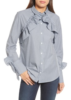 Kenneth Cole New York Ruffle Poplin Shirt