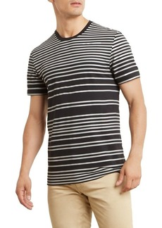 Kenneth Cole New York Men's Print Stripe Crew