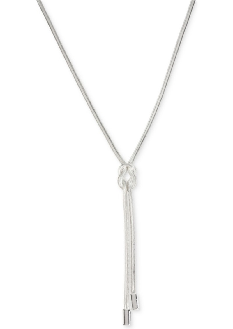 Kenneth Cole New York Knot Y-Shaped Silver Necklace