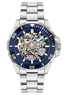 Kenneth Cole New York Skeletal Automatic Bracelet Watch, 43mm