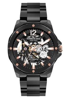 Kenneth Cole New York Skeletal Automatic Bracelet Watch, 45mm
