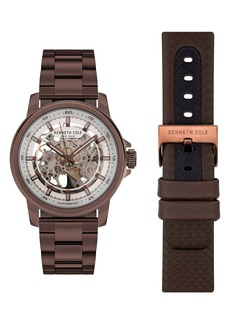 Kenneth Cole New York Skeletal Automatic Watch, 44.5mm