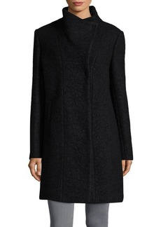 Kenneth Cole New York Stand Collar Wool-Blend Coat