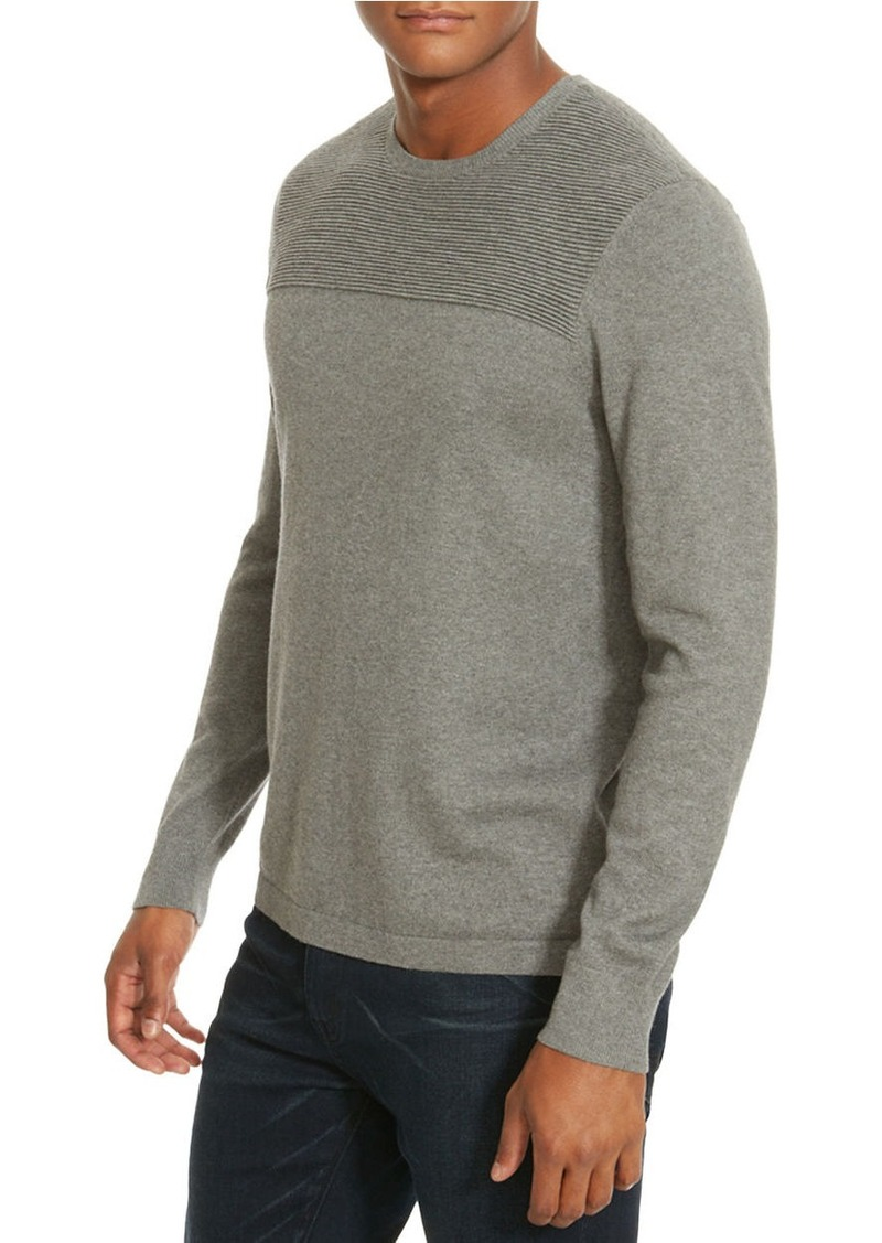 KENNETH COLE NEW YORK Textured Crewneck Sweater