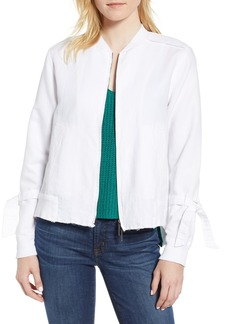 Kenneth Cole New York Tie Sleeve Bomber Jacket