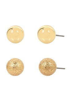 Kenneth Cole New York Tone Mixed Ball Stud Earring Set