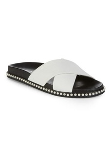 Kenneth Cole New York Valeria Leather Slip-On Sandals