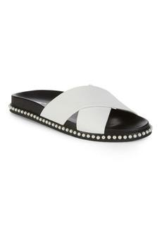 Valeria Leather Slip-On Sandals