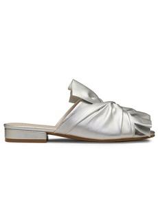 Kenneth Cole New York Violet Leather Block Heel Sandals
