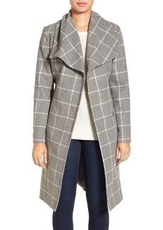 Kenneth Cole New York Windowpane Wrap Coat