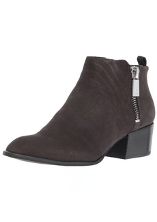 Kenneth Cole New York Women's Addy Western Bootie Double Zip Low Heel Suede Ankle   M US