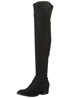 Kenneth Cole New York Women's Adelynn Over The Knee Boot Low Heel Stretch Engineer   M US