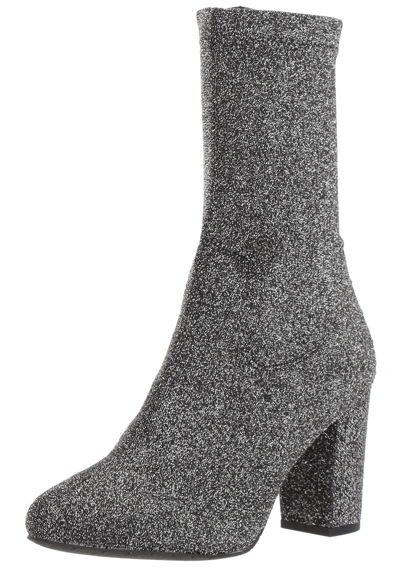 Kenneth Cole New York Women's Alyssa Stretch Shaft Boot with Heel Ankle PEWTER  Medium US