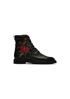 Kenneth Cole New York Women's Ashton 2 Combat Boot with Floral Embroidery