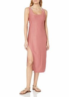 Kenneth Cole New York Women's Asymmetrical Tank Dress Swimsuit Cover Up  L