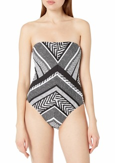 Kenneth Cole New York Women's Bandeau One Piece Swimsuit  XXL