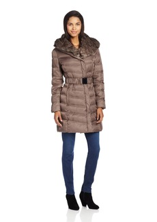 Kenneth Cole New York Women's Belted Down Jacket