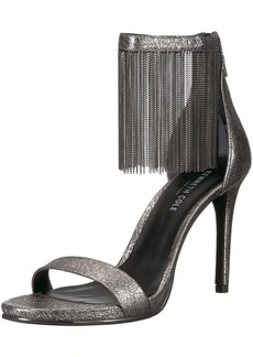 Kenneth Cole New York Women's Bettina Fringe Metallic Heeled Sandal