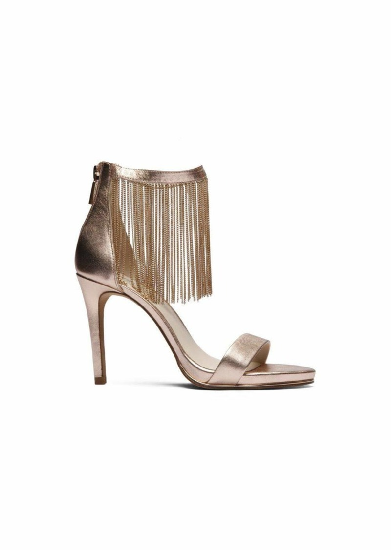 Kenneth Cole New York Women's Bettina Fringe Metallic Heeled Sandal   M US