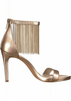 Kenneth Cole New York Women's Bettina Fringe Metallic Heeled Sandal rose gold  M US