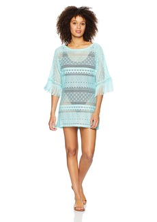 Kenneth Cole New York Women's Boat Neck Cover up Tunic Dress