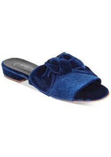 Kenneth Cole New York Women's Candice Velvet Bow-Detail Slide Sandals Women's Shoes