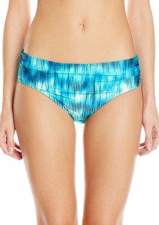Kenneth Cole New York Women's Chasing Waterfalls Shirred Bikini Bottom