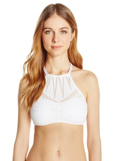 Kenneth Cole New York Women's Deco The Distance High-Neck Bikini Top
