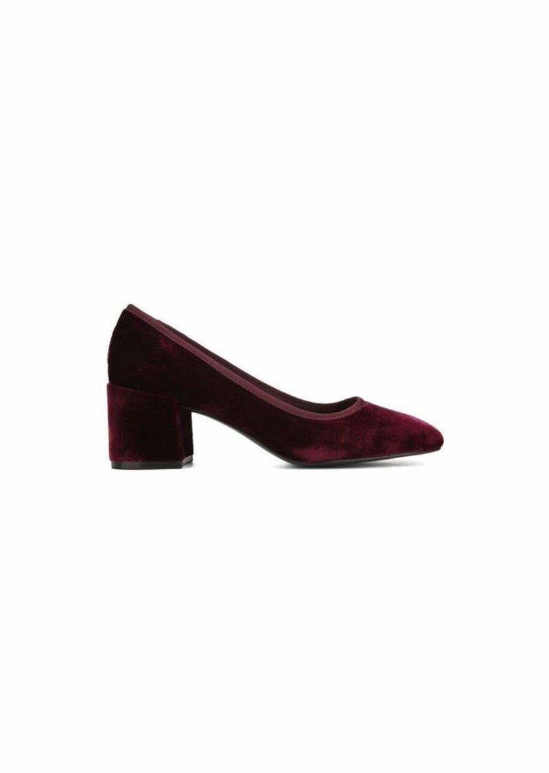 Kenneth Cole New York Women's Eryn Dress Pump Low Heel Square Toe Velvet   M US