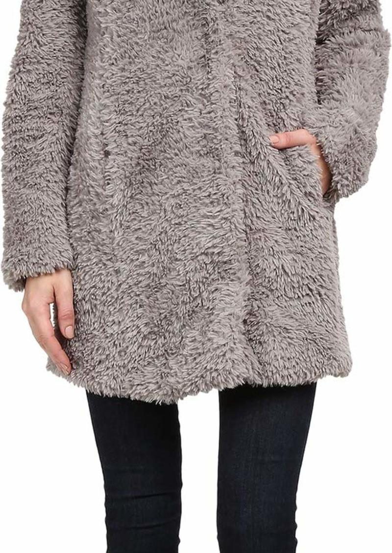 Kenneth Cole New York Women's Faux Fur Teddy Coat  LG