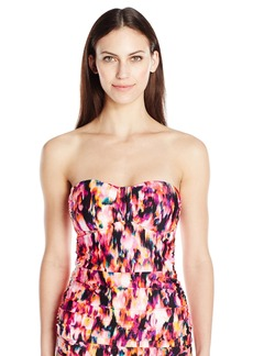 Kenneth Cole New York Women's Floral Explosion Bandeau Tankini
