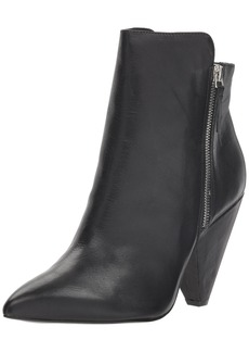 Kenneth Cole New York Women's Galway Side Zip Heeled Bootie Ankle Boot   M US