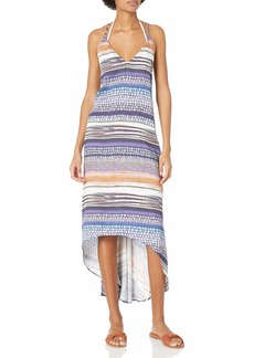 Kenneth Cole New York Women's Standard High-Low Cross Back Dress Swimsuit Cover Up  XS