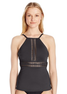 Kenneth Cole New York Women's High Neck Tankini Swimsuit Top