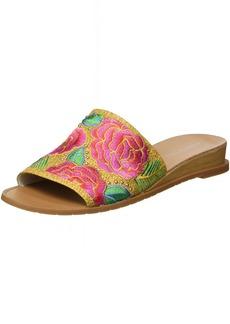 Kenneth Cole New York Women's Joanne Slide Sandal Raffia w/Embroidery   M US