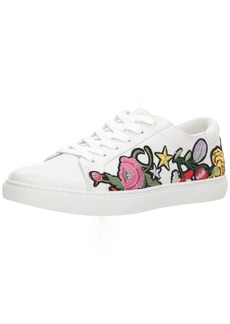 Kenneth Cole New York Women's Kam 10 Floral Embroidered Lace-up Sneaker   Medium US
