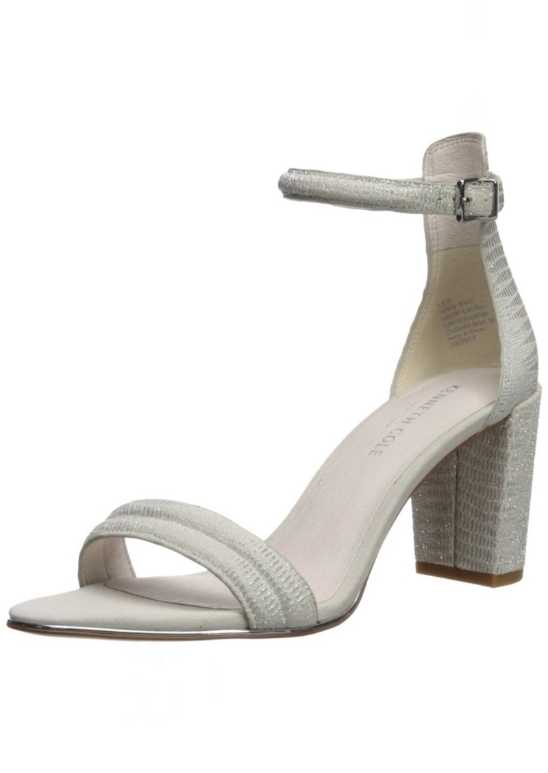 Kenneth Cole New York Women's Lex Block Heeled 2 Piece Sandal with Buckle Closure   Medium US