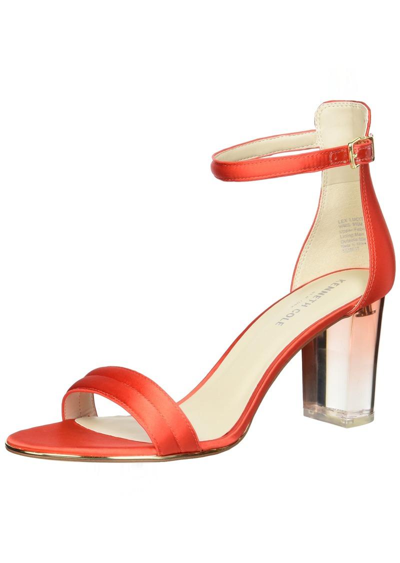 Kenneth Cole New York Women's Lex Lucite Heel Dress Sandal Heeled   M US