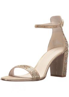 Kenneth Cole New York Women's Lex Shine Glitzy Block Heeled Sandal Ankle Strap   M US