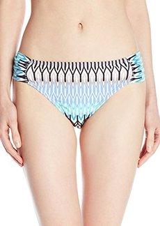 Kenneth Cole New York Women's Linear Lines Sash Tab Bikini Bottom