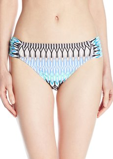 Kenneth Cole New York Women's Linear Lines Sash Tab Bikini Bottom