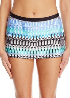 Kenneth Cole New York Women's Linear Lines Skirted Bikini Bottom