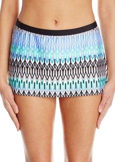 Kenneth Cole New York Women's Linear Lines Skirted Bikini Bottom