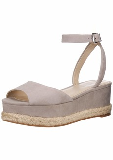 Kenneth Cole New York Women's Lorelei Platform Ankle Strap Espadrille Wedge Sandal   M US