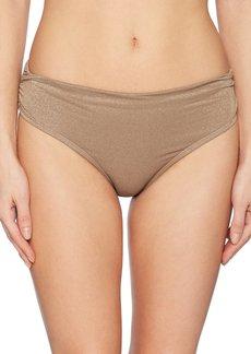 Kenneth Cole New York Women's Lurex Solid Shirred Pant Bikini Bottom