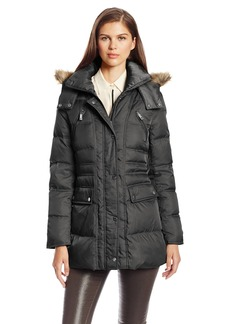 Kenneth Cole New York Women's Matte Satin Short Down Coat