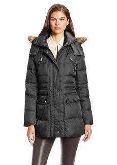 Kenneth Cole New York Women's Matte Satin Short Down Coat