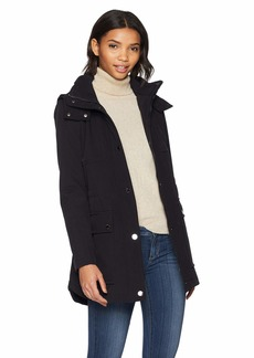 Kenneth Cole New York Women's Mid Length Zip Anorak Jacket with Removmable Hood  XL