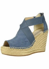 Kenneth Cole New York Women's Olivia 2 Perf Stretch Espadrille Wedge Sandal   M US